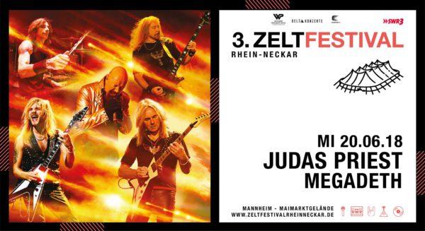 JUDAS PRIEST + MEGADETH Zeltfestival 2018