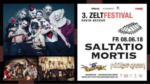 SALTATIO MORTIS - FIDDLER'S GREEN - MR. HURLEY UND DIE PULVERAFFEN Zeltfestival 2018
