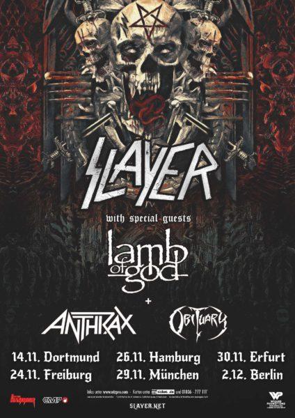 Slayer Deutschland Tour 2018
