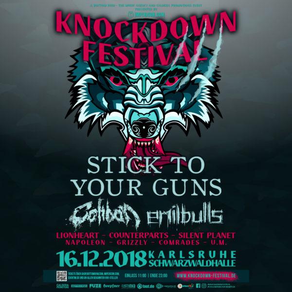 KnockDownFestival2018 Plakat Juli 2018