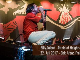 Konzertbericht Billy Talent Afraid of Heights Tour 2017 Sick Arena Freiburg