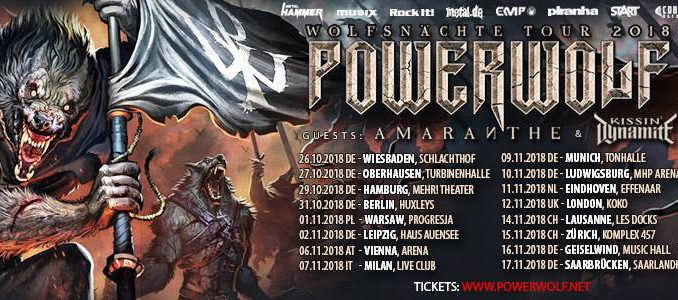 Powerwolf Wolfsnächte Tour 2018