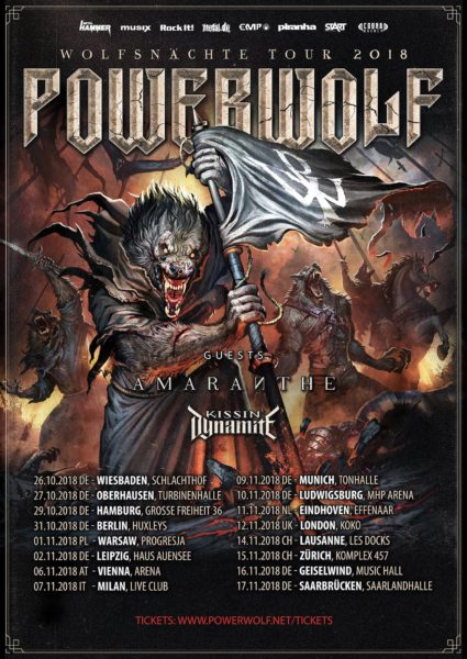 Powerwolf Wolfsnächte 2018 TourFlyer