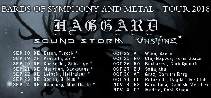 Flyer Haggard Bards of Symphony and Metal Tour 2018