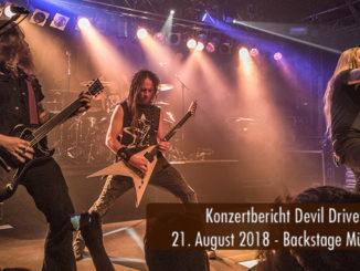 Konzertbericht DevilDriver Backstage München 2018