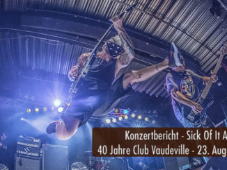 Konzertbericht Sick Of It All 40 Jahre Club Vauderville Lindau 2018
