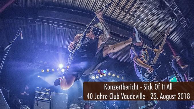 Konzertbericht Sick Of It All 40 Jahre Club Vauderville Lindau 2018