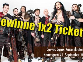 Ticket Gewinnspiel Corvus Corax Kammgarn Kaiserslautern September 2018