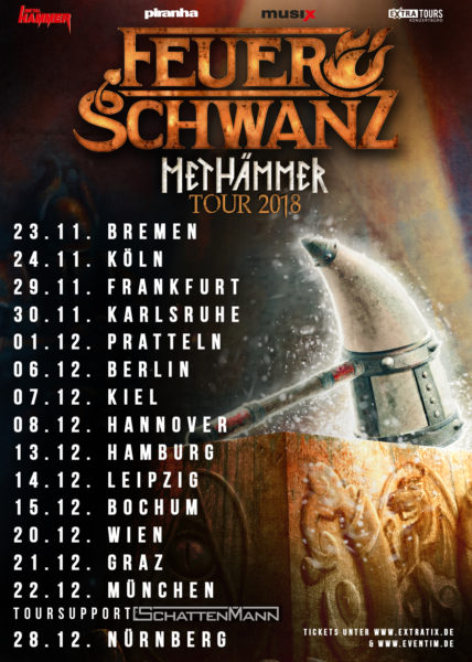 Flyer Feuerschwanz Methämmer Tour 2018
